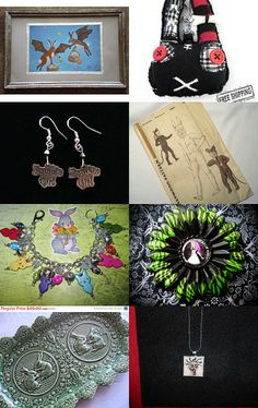 Rabbits and Zombies by Janis on Etsy--Pinned with TreasuryPin.com