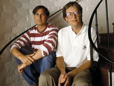 Steve Jobs(+) and Bill Gates
