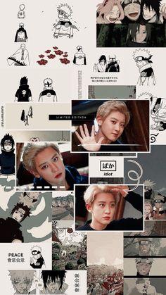 chanyeol and naruto. Chanyeol Cute, Exo Chanbaek, Park Chanyeol Exo, Baekhyun Chanyeol, Kpop Exo, Bts Aesthetic Wallpaper For Phone, Exo Anime, Baekhyun Wallpaper, Exo Merch
