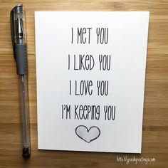 Niedliche Liebeskarte Geburtstag Karte Liebe von YeaOhGreetings