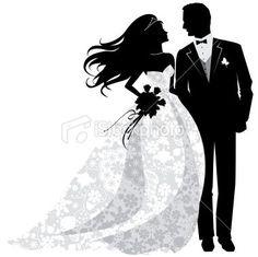 African American wedding clip art | Brown Bride Art Love ...