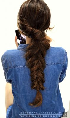 Easy everyday hairstyles with braids for fall | hair tutorial