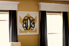Chevron Monogram Wall Art DIY