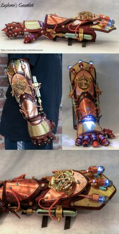 Completed Explorer's Gauntlet | Steampunk Gauntlet by asdemeladen on deviantART