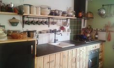 Our very own handmade dreamkitchen with concrete countertop