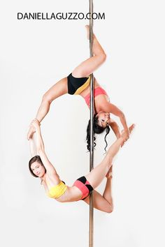 Pole Fitness Photography by Daniella Guzzo Pole doubles Crystal Lai wearing Light Active Wear