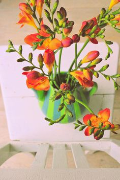 flowers in the house