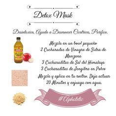 Mascarilla Desintoxicante Tips Belleza, Skin Tips, Organic Beauty, Detox, Beauty Hacks, Make Up, Skin Care, Health, Diy