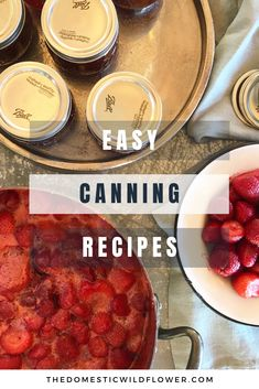 These easy canning recipes are perfect if you're wondering how to can food for beginners. Each recipe has step by step instruction for water bath canning and steam canning and each of these easy canning recipes are FAST. Jam Recipes, Canning Recipes, Spiced Pear Butter Recipe, Peach Sauce, Easy Canning, Canning Peaches, Peach Puree, Water Bath Canning