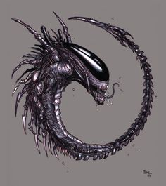 xenomorph+queen | Hybrid by *tariq12 on deviantARTI like that tongue action; reminds me ...