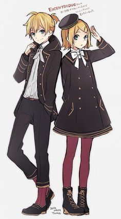 rin and len Rin Y Len Kagamine, Hatsune Miku, Kaito, Gakupo Kamui, Vocaloid Characters, Manga Anime, Animes Manga, Anime Art, Hold Hands