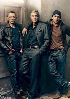 Daniel Craig, George Clooney & Matt Damond by Annie Leibovitz.