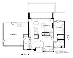 House Plan 76499 - Contemporary, Modern Style House Plan with 2142 Sq Ft, 4 Bed, 3 Bath, 2 Car Garage Pole Barn House Plans, Pole Barn Homes, Garage Plans, Shed Plans, Car Garage, Contemporary House Plans, Modern House Plans, Small House Plans, House Plans And More