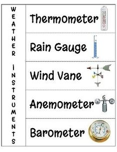 Weather Tools Worksheet This could be a great worksheet to