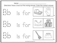Beginning Sounds Coloring  Alphabet Worksheets Preschool
