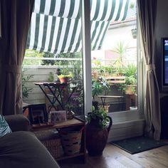 狭いベランダ/IKEA/植物のある暮らし/オーニング/観葉植物/NO GREEN NO LIFE…などのインテリア実例 - 2016-08-09 21:09:22 | RoomClip(ルームクリップ)