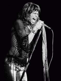 Steven Tyler, Boston Music Hall by Ron Pownall  •  San Francisco Art Exchange