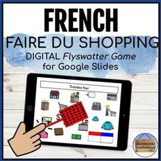 This digital French shopping vocabulary game is a fun way to encourage your students to interact with each other online during distance learning! The object of the game is to gain the most points for your team by being the first player to 'hit' the correct image on the screen using the flyswatter ic... Activity Games, Activities, French Basics, Vocabulary Games, Learn French, Languages, Gain, Distance, Encouragement