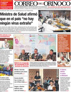@CorreoOrinoco #Portadas #PrimeraPagina #Titulares #Noticias #DesayunoInformativo