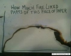 Graph: how much fire liked parts of this paper.
