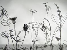 flowers + wire + art  --  one of these days...