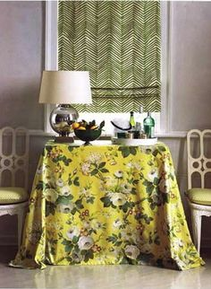 Covered Consol Table / blind. chintz-quadrille-alan-campbell-zig-zag.jpg 400×546 pixels