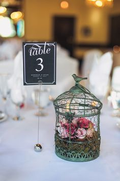 An Intimate Elegant Garden Themed Wedding Table Numbersbird