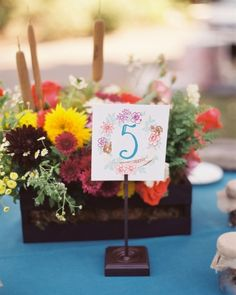 Floral Table Numbers