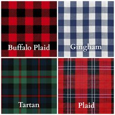 The Difference Between Buffalo Plaid Gingham Tartan And Just To Know