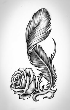 Flower tattoos, feather tattoo meaning, tribal tattoos, small tattoos, body Rose Tattoos, Flower Tattoos, Body Art Tattoos, Tribal Tattoos, Small Tattoos, Sleeve Tattoos, Eagle Feather Tattoos, Rose Drawing Tattoo, Feather Drawing