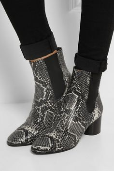Isabel Marant | Danae snake-effect leather ankle boots | NET-A-PORTER.COM