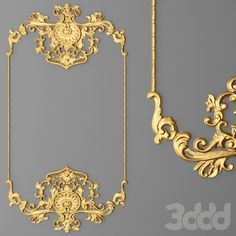 3d frame baroque cartouches set models.