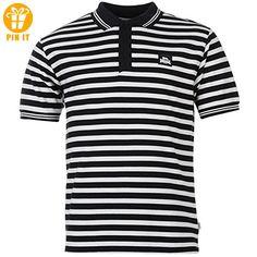 Lonsdale Yarn Dye Herren Gestreift Polo Poloshirt T Shirt Kurzarm Tee Top L - T-Shirts mit Spruch | Lustige und coole T-Shirts | Funny T-Shirts (*Partner-Link)
