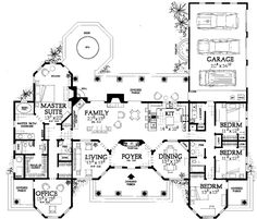 Florida Style House Plans - 2831 Square Foot Home, 1 Story, 4 Bedroom and 3 3 Bath, 3 Garage Stalls by Monster House Plans - Plan 68-121