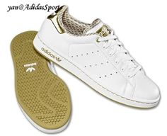 buy popular 87964 34a11 Womens Adidas Originals Stan Smith 2.0 Leather Shoes White Golden outlet  HOT SALE! HOT PRICE