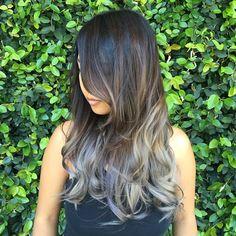 #silverhair #ombre #balyage @aprilnchase #grayhair #hair #haircolor #haircut #hairdresser #toniguyusa #toniguyacademyoc @toniguyacademyoc used all #tigicopyrightcolour