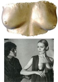 YSL and Veroushka in Lalanne, 1969