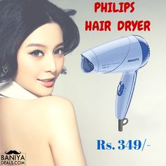 Now it's time to style and blow dry your hair without damaging them with the Philips HP8100 Hair Dryer. The dryer comeswith2 flexible speed settings which give you freedom to style and dry your hair according to your choice; moreover it also comes with a concentrator that will blow out the hot air only to the focused area as per the user's choice.  Buy here http://baniya.me/1Phb03V