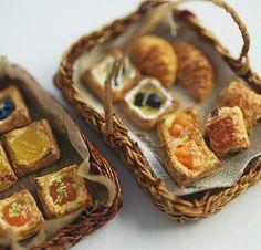 *池袋講座デニッシュ仕上げ* - *Nunu's HouseのミニチュアBlog*           1/12サイズのミニチュアの食べ物、雑貨などの制作blogです。
