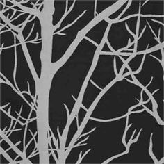 """Element Tree fabric in Black/Silver gray color in standard size length and extra long 108"""" inch curtains and 120"""" inch ready-made draperies 
