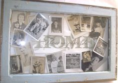 Shabby+Chic+Old+Windows+Crafts | Antique Altered Window Frame Art. Sign.Shabby Chic Collage Picture ...