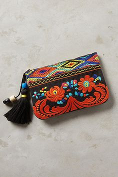 Hermosa Embroidered Pouch #anthrofave #anthropologie