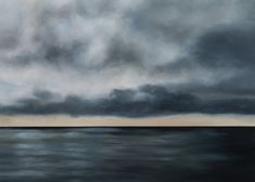 Grey waters, vast as an area of prayer (quote: R.Thomas) from The Long Silences, part of a private collection in Germany. Sky Full, Dartmoor, Prayer Quotes, Behind The Scenes, Germany, Clouds, Paintings, Sea, Landscape