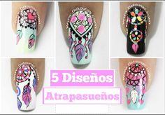5 Diseños de uñas de atrapasueños
