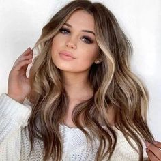 Long Wavy Ash-Brown Balayage - 20 Light Brown Hair Color Ideas for Your New Look - The Trending Hairstyle Brown Ombre Hair, Brown Hair Balayage, Brown Blonde Hair, Ombre Hair Color, Hair Color Balayage, Blonde Wig, Haircolor, Gold Blonde, Short Brown Hair With Blonde Highlights