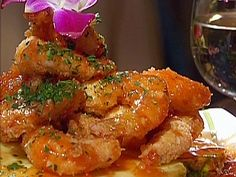 Coconut MacNut Shrimp with Guava Sweet and Sour Sauce from FoodNetwork.com