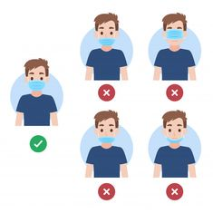 How to wearing face mask right and wrong, people wearing a surgical mask for prevent corona virus , Hand Washing Poster, Applis Photo, School Displays, Hand Illustration, Character Illustration, Art Deco Design, Art Google, Preschool Activities, Kindergarten