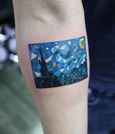 Sj starry night tattoo