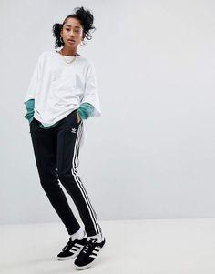 7d6a83d15703 adidas adicolor Three Stripe Track Pants In Black Adidas Hose