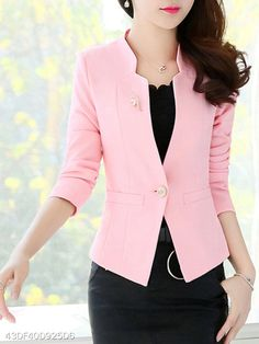 30 Pink Blazer Outfits Ideas * remajacantik You are in the right place about Blazer Outfit formal Here we offer yo Pink Blazer Outfits, Blazer Outfits For Women, Casual Blazer, Blazer Suit, How To Wear Blazers, Ladies Blazers, Blazer Fashion, Fashion Hair, Fashion Boots